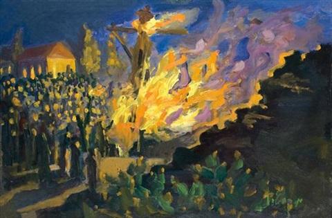 A tűz körül – Lág báomer ábrázolások a festészetben